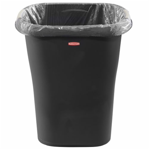 Rubbermaid 8 Gallon Plastic Home/Office Wastebasket Trash Can with Liner Lock Perspective: back