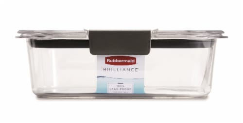 Rubbermaid® Brilliance™ Black & Clear Food Storage Container Perspective: back