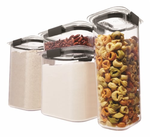 Rubbermaid Brilliance Pantry Container Set - Clear Perspective: back
