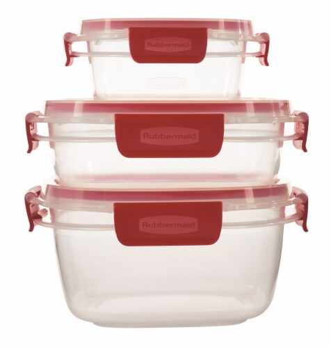 Rubbermaid Easy Find Lids Container Set - Red/Clear Perspective: back