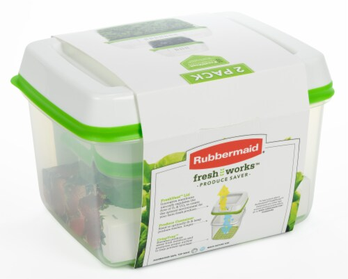 Rubbermaid Fresh Works Produce Saver Food Storage Container - Green Perspective: back