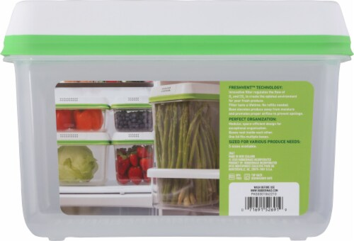 Rubbermaid® Freshworks™ Large Green Produce Saver Container Perspective: back