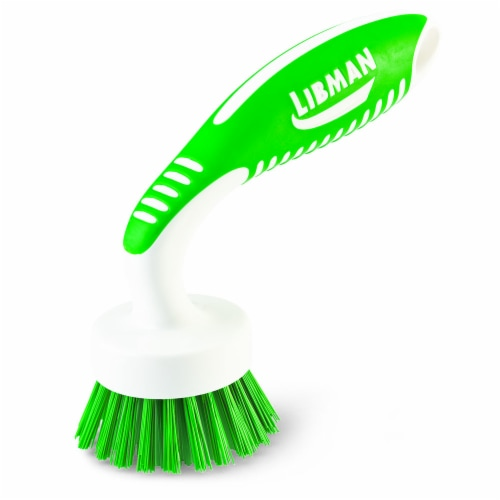 Libman® Curved Kitchen Brush - White/Green Perspective: back