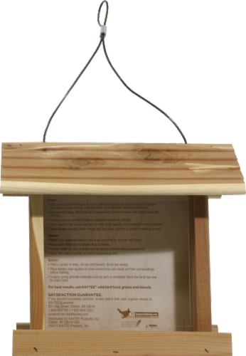 Kaytee Cedar Songbird Feeder Perspective: back