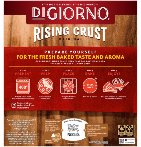 DIGIORNO Italian Sausage Rising Crust Frozen Pizza Perspective: back