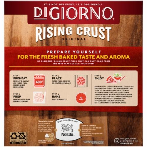 DIGIORNO Spinach Mushroom & Garlic Rising Crust Frozen Pizza Perspective: back