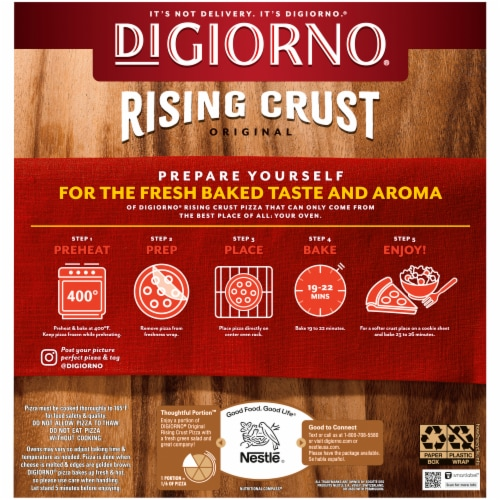DIGIORNO Four Cheese Rising Crust Frozen Pizza Perspective: back