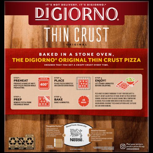 DiGiorno Original Thin Crust Pepperoni Frozen Pizza Perspective: back