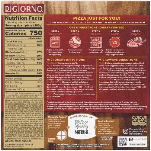 DiGiorno Traditional Crust Pepperoni Frozen Pizza Perspective: back