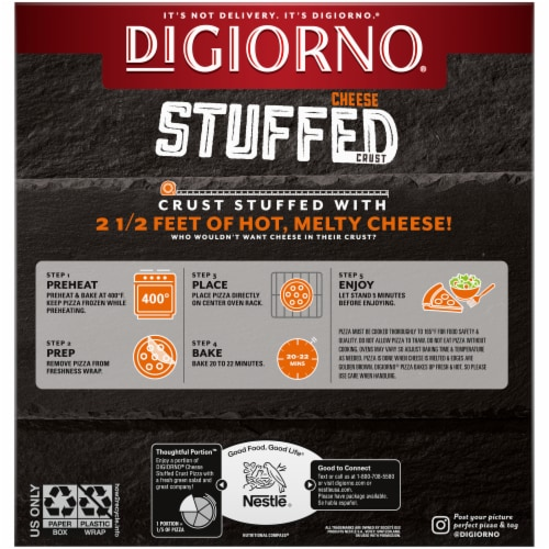 DiGiorno® Cheese Stuffed Crust 5 Cheese Frozen Pizza Perspective: back