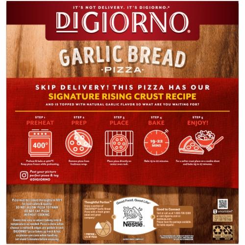 DiGiorno Garlic Bread Pizza Pepperoni Perspective: back