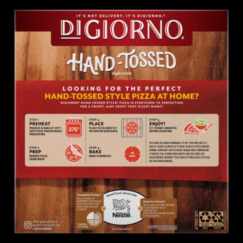 DiGiorno Pizzeria! Hand-Tossed Style Crust Primo Pepperoni Frozen Pizza Perspective: back