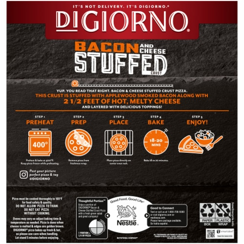 DiGiorno Bacon Me Crazy Bacon & Cheese Stuffed Crust Pizza Perspective: back