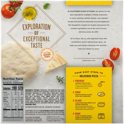 California Pizza Kitchen Margherita Recipe Gluten Free Pizza Perspective: back