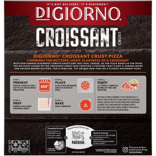 DIGIORNO Four Cheese Frozen Pizza on a Croissant Crust Perspective: back