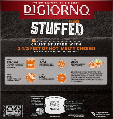 DiGiorno® Cheese Stuffed Crust Three Meat Frozen Pizza Perspective: back
