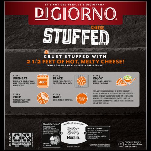 DiGiorno Cheese Stuffed Crust Supreme Pizza Perspective: back