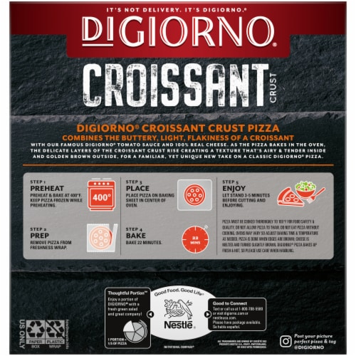 DIGIORNO Pepperoni Frozen Pizza with Croissant Crust Perspective: back