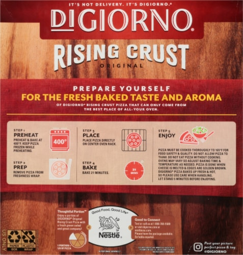 DIGIORNO Pepperoni Frozen Pizza on a Rising Crust Perspective: back