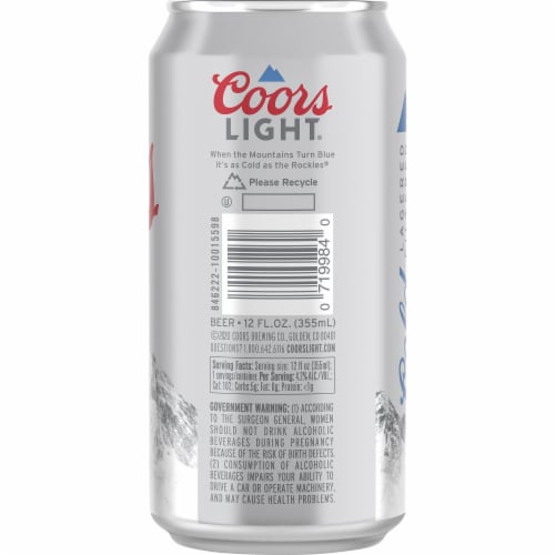 Coors Light® American Lager Beer Perspective: back