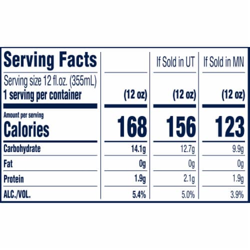 Blue Moon® Belgian White Wheat Ale Beer Perspective: back