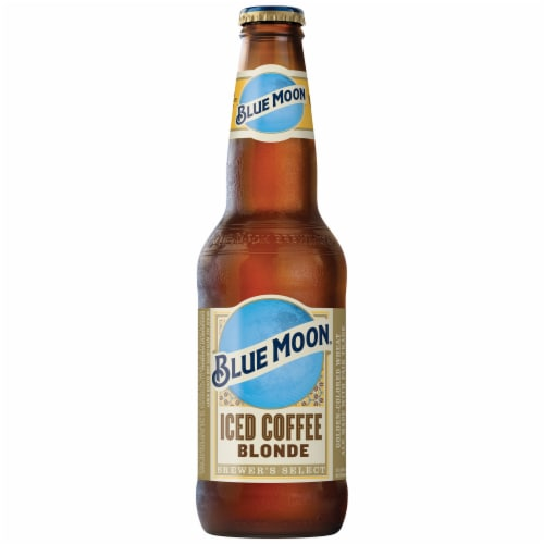 Blue Moon Iced Coffee Blonde Wheat Ale Beer Perspective: back