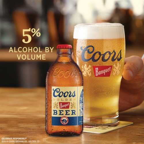 Coors Banquet Lager Beer Perspective: back