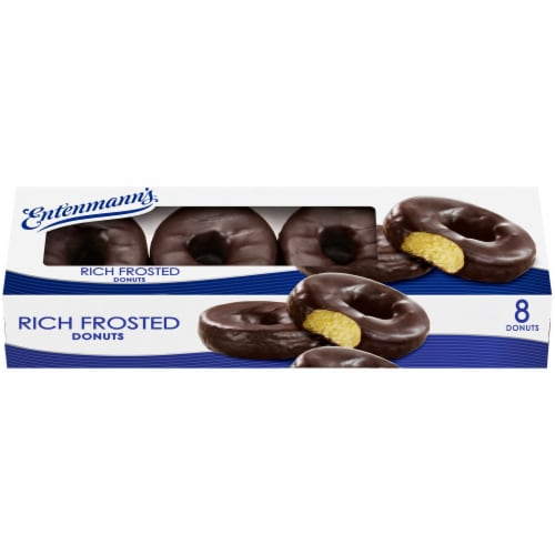 Entenmann's® Rich Chocolate Frosted Donuts Perspective: back