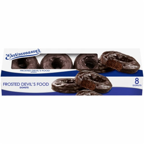 Entenmann's® Frosted Devil's Food Donuts Perspective: back