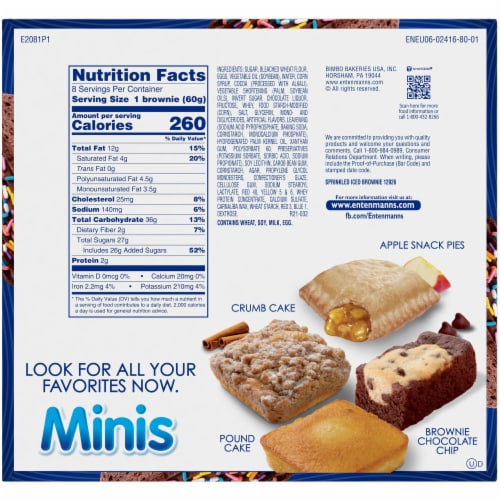 Entenmann's® Minis Sprinkled Iced Brownies Perspective: back
