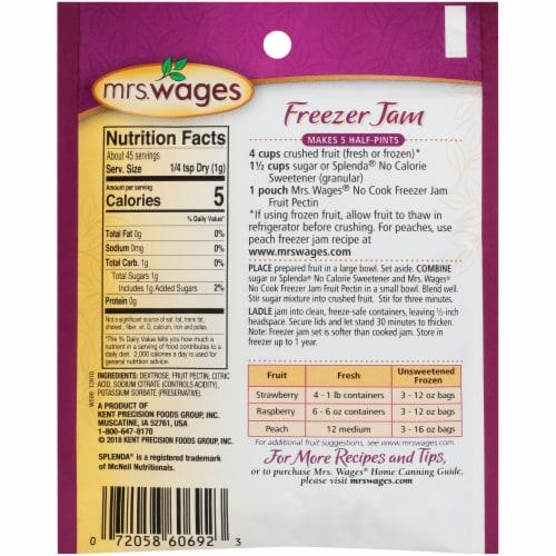Mrs. Wages No Cook Freezer Jam Fruit Pectin Mix Perspective: back