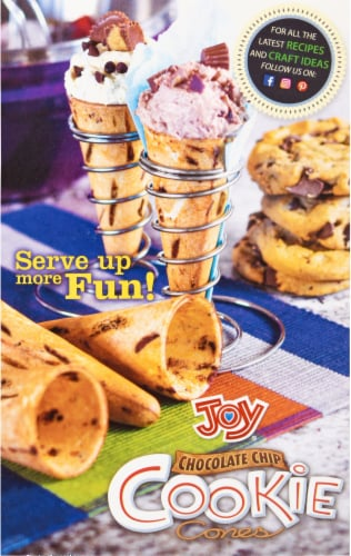 Joy Chocolate Chip Cookie Cones Perspective: back