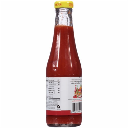 La Victoria Medium Red Taco Sauce Perspective: back