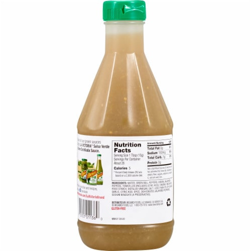 La Victoria Mild Green Taco Sauce Perspective: back