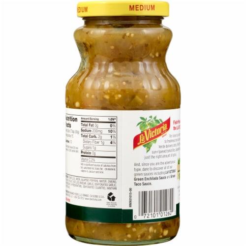 La Victoria Medium Thick 'n Chunky Salsa Verde Perspective: back