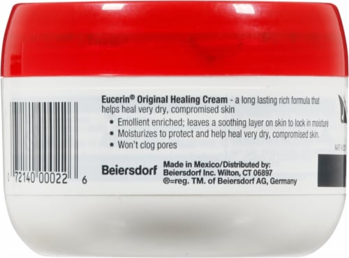 Eucerin Original Moisturizing Creme Moisturizer Cream 4 oz Perspective: back