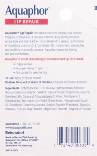 Aquaphor® Lip Repair Immediate Relief Lip Balm Perspective: back