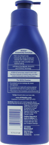 Nivea Essentially Enriched Nourishing Moisture Body Lotion Perspective: back
