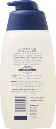 Aquaphor Gentle Cleansing Baby Wash & Shampoo Perspective: back