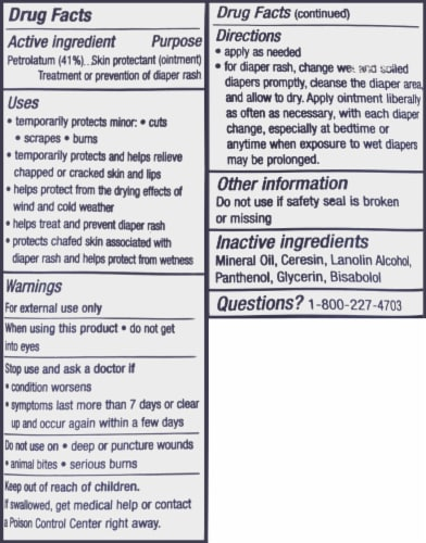 Aquafor Advanced Therapy Baby Healing Ointment Perspective: back