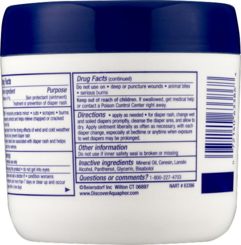 Aquaphor Baby Healing Ointment Perspective: back
