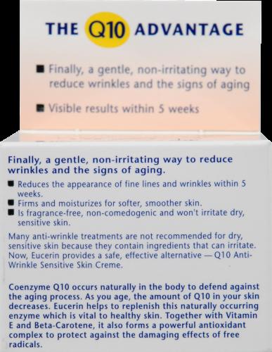 Eucerin Q10 Anti-Wrinkle Sensitive Skin Face Creme Perspective: back