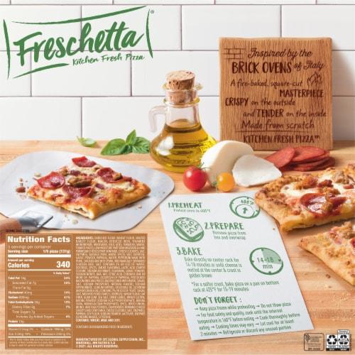 Freschetta Brick Oven Crust Three Meat Pizza Perspective: back