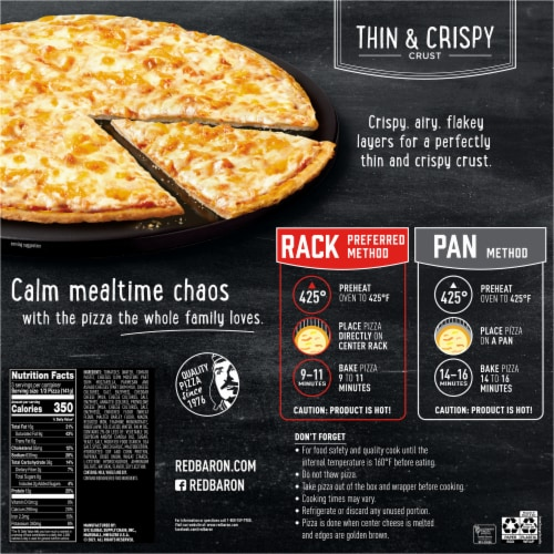 Red Baron Thin & Crispy Crust Five Cheese Pizza Perspective: back