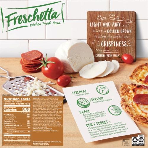 Freschetta Thin Crust Premium Pepperoni Pizza Perspective: back
