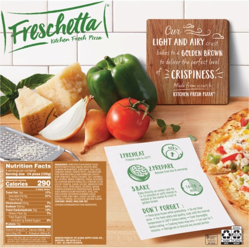 Freschetta Thin Crust Vegetable Pizza Perspective: back