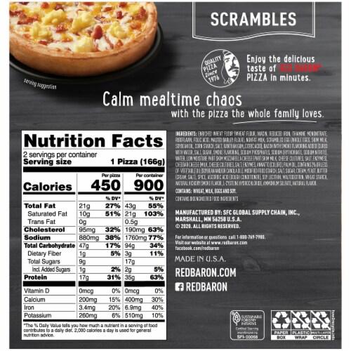 Red Baron® Scrambles Bacon Scrambles Pizza Perspective: back