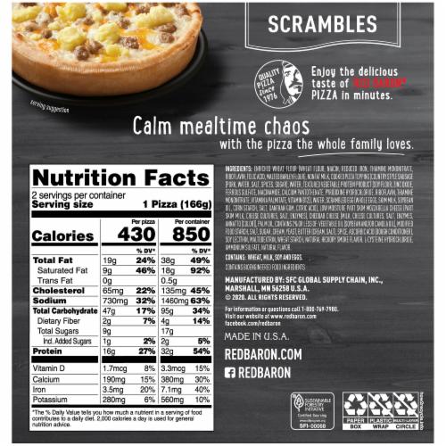 Red Baron® Scrambles Sausage Scrambles Pizza Perspective: back