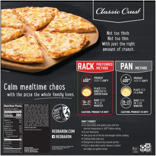 Red Baron Classic Crust Four Cheese Pizza Perspective: back