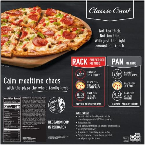 Red Baron Classic Crust Supreme Pizza Perspective: back